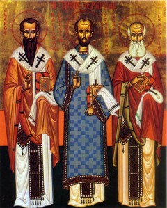 De tre hellige ærkebiskopper: Basilios, Gregorios og Johannes.